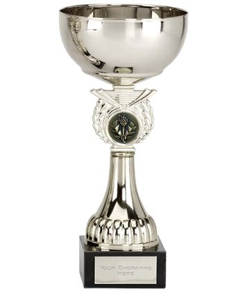 "Crusader Silver Presentation Cup with Centre Disc 18cm (7"")"
