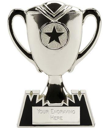"Metal Cup Plaque Award in Silver 12.5cm (5"")"