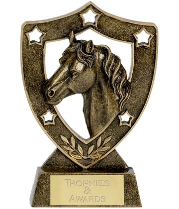 """Horse and Pony Shield Stars Trophy 12.5cm (5"""")"""