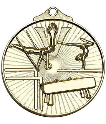 "Gold Horizon Gymnastics Medal 52mm (2"")"