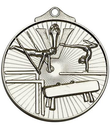 "Silver Horizon Gymnastics Medal 52mm (2"")"