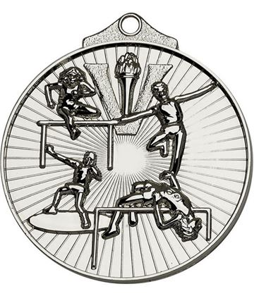 "Silver Horizon Athletics Track & Field Medal 52mm (2"")"