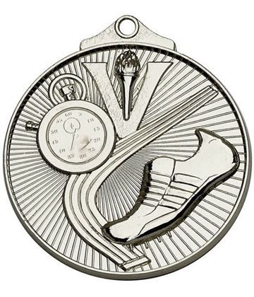 "Silver Horizon Athletics Track Medal 52mm (2"")"