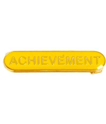 Achievement Lapel Bar Badge Yellow 40mm x 8mm