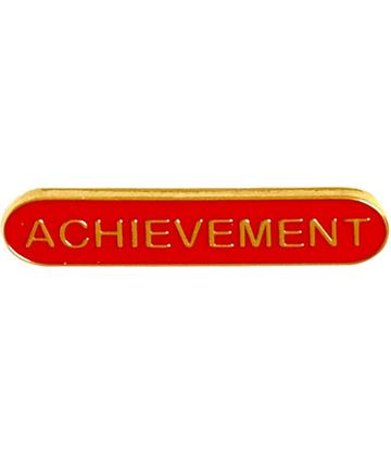 Achievement Lapel Bar Badge Red 40mm x 8mm