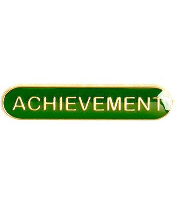 Achievement Lapel Bar Badge Green 40mm x 8mm