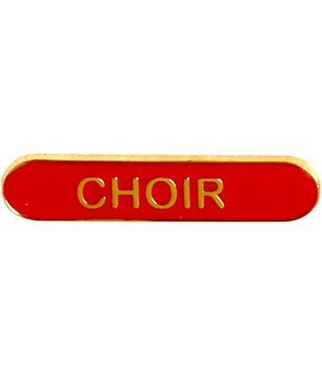 Choir Lapel Bar Badge Red 40mm x 8mm