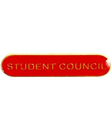 Student Council Lapel Bar Badge Red 40mm x 8mm