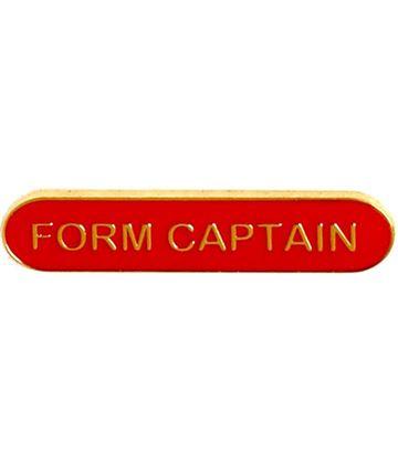 Form Captain Lapel Bar Badge Red 40mm x 8mm