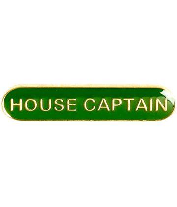 House Captain Lapel Bar Badge Green 40mm x 8mm