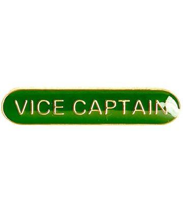 Vice Captain Lapel Bar Badge Green 40mm x 8mm