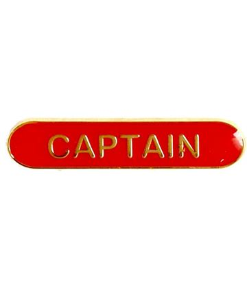 Captain Lapel Bar Badge Red 40mm x 8mm