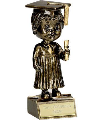 "Bobblehead Male Graduation Trophy 15cm (6"")"