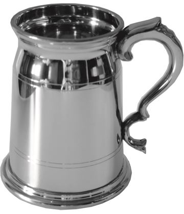 "Olde London Style 2pt Sheffield Pewter Tankard 16cm (6.25"")"