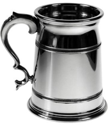 "Extra Heavy Olde London 1pt Sheffield Pewter Tankard 12.5cm (5"")"