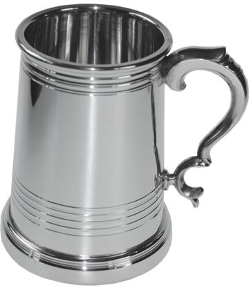 "Extra Heavy Worcester 1pt Sheffield Pewter Tankard 12.5cm (5"")"