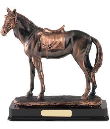 "Antique Copper Plated Horse Figure 25.5cm (10"")"