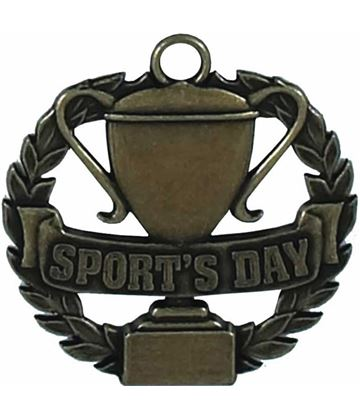 """Bronze Sports Day Medal 50mm (2"""")"""