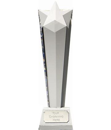 "Optical Crystal Towering Star Award 23cm (9"")"