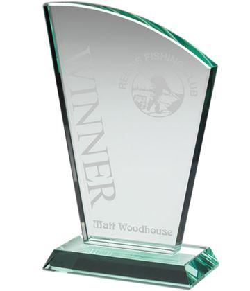 """Flair Plaque Jade Glass Award 15cm (6"""")"""