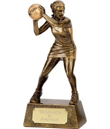 "Netball Player & Ball Trophy 15cm (6"")"