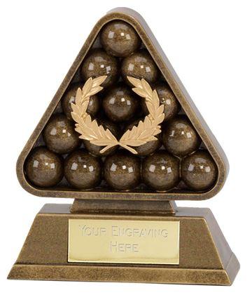 """Antique Gold Paragon Pool / Snooker Award 19cm (7.5"""")"""