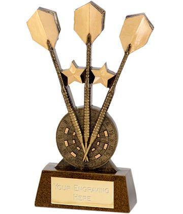 """Gold 3 Darts Award 15cm (6"""")"""