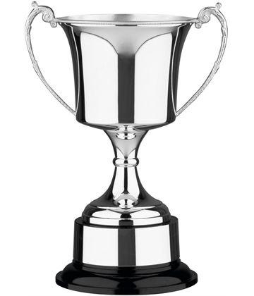 """Traditional Silver Plated Presentation Cup with Plinthband 23.5cm (9.25"""")"""