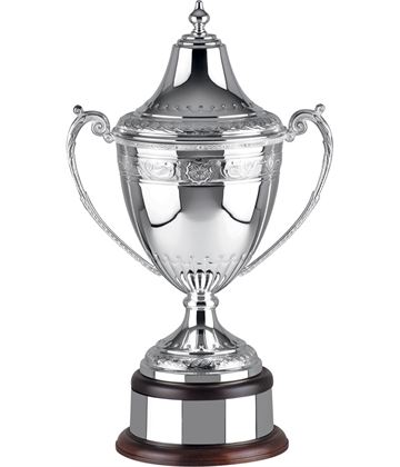 """Silver Plated Hand Chased Celtic Presentation Cup 52cm (20.5"""")"""