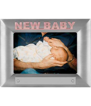 New Baby Pink Satin Finish Photo Frame 18cm x 13.5cm