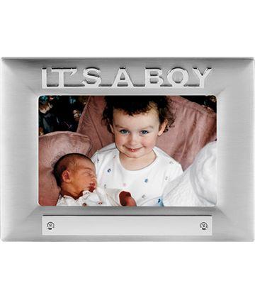 It's a Boy Satin Finish Photo Frame 18cm x 13.5cm