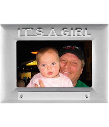 It's a Girl Satin Finish Photo Frame 18cm x 13.5cm