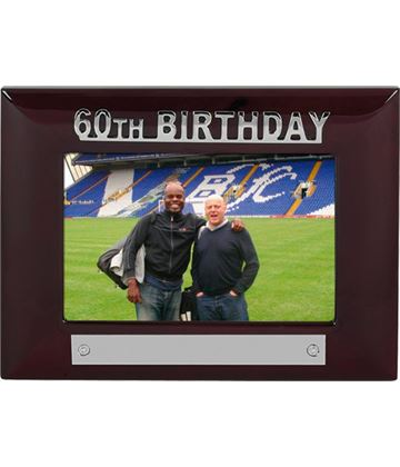 Mahogany Finish 60th Birthday Photo Frame 18cm x 13.5cm