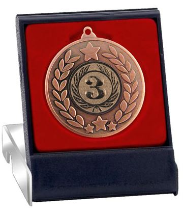 "Bronze Stars & Laurel Wreath Medal in Presentation Box 50mm (2"")"