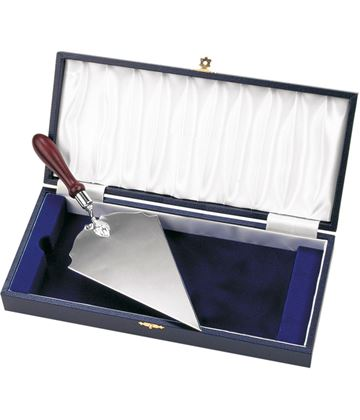 """Cased Long Silver Plated Trowel 26.5cm (10.5"""")"""