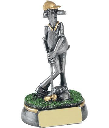 """Antique Silver Mr Mulligan Novelty Golf Trophy 12.5cm (5"""")"""