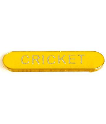 Yellow Cricket Lapel Bar Badge 40mm x 8mm