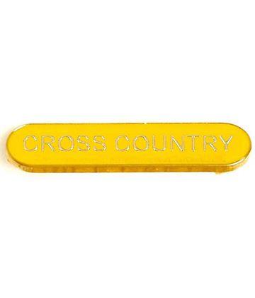 Yellow Cross Country Lapel Bar Badge 40mm x 8mm