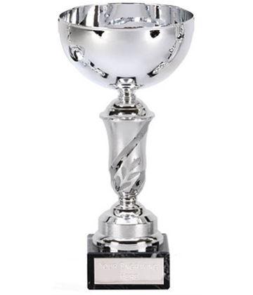 """Silver Emblem Trophy Cup 18.5cm (7.25"""")"""