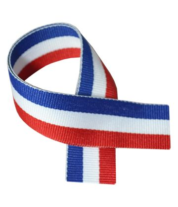 """Red, White & Blue Medal Ribbon 80cm (32"""")"""