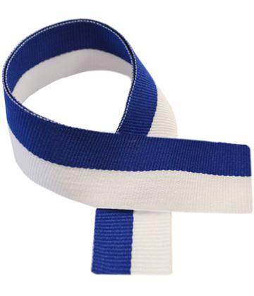 """Blue & White Medal Ribbon 76cm (30"""")"""