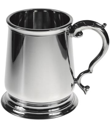 "George III Plain 1pt Sheffield Pewter Tankard 12cm (4.75"")"