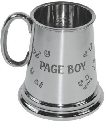 """1/4pt Page Boy Sheffield Pewter Children's Tankard 7.5cm (3"""")"""