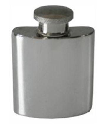 "1oz Plain Polished Sheffield Pewter Purse Flask 5cm (2"")"
