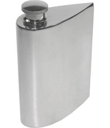"""4oz Plain Teardrop Shaped Sheffield Pewter Purse Flask 14.5cm (5.75"""")"""