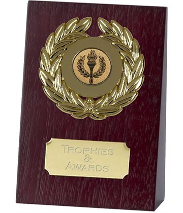 "Wooden Self Standing Wedge Plaque 13.5cm (5.25"")"
