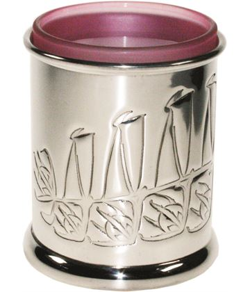 "Pewter Knox Candle Votive and Candle 9cm (3.5"")"