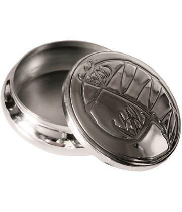 "Pewter Georgian Trinket box with knox Design 8.5cm (3.25"")"