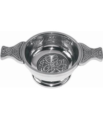 "Pewter Quaich Bowl with Celtic Circle 7cm (2.75"")"