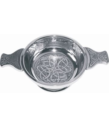 "Pewter Quaich Bowl with Celtic Circle 9cm (3.5"")"
